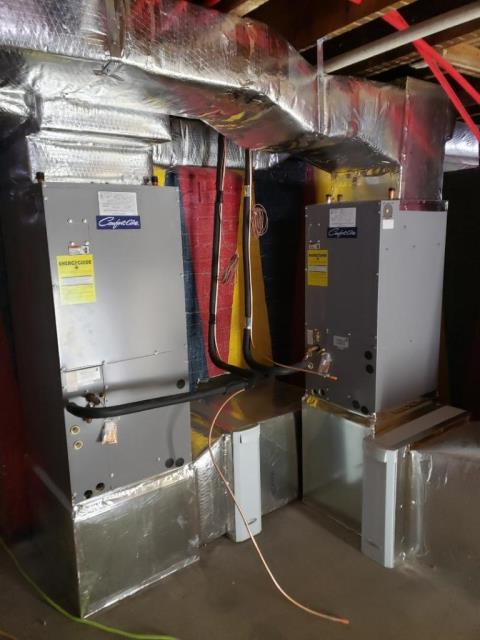 Garden City, NY - Day 2 on central air installation in Garden City's Mott Section.