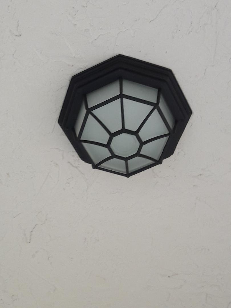 Install LED porch light on 18ft ceiling Margate,Fl 33063