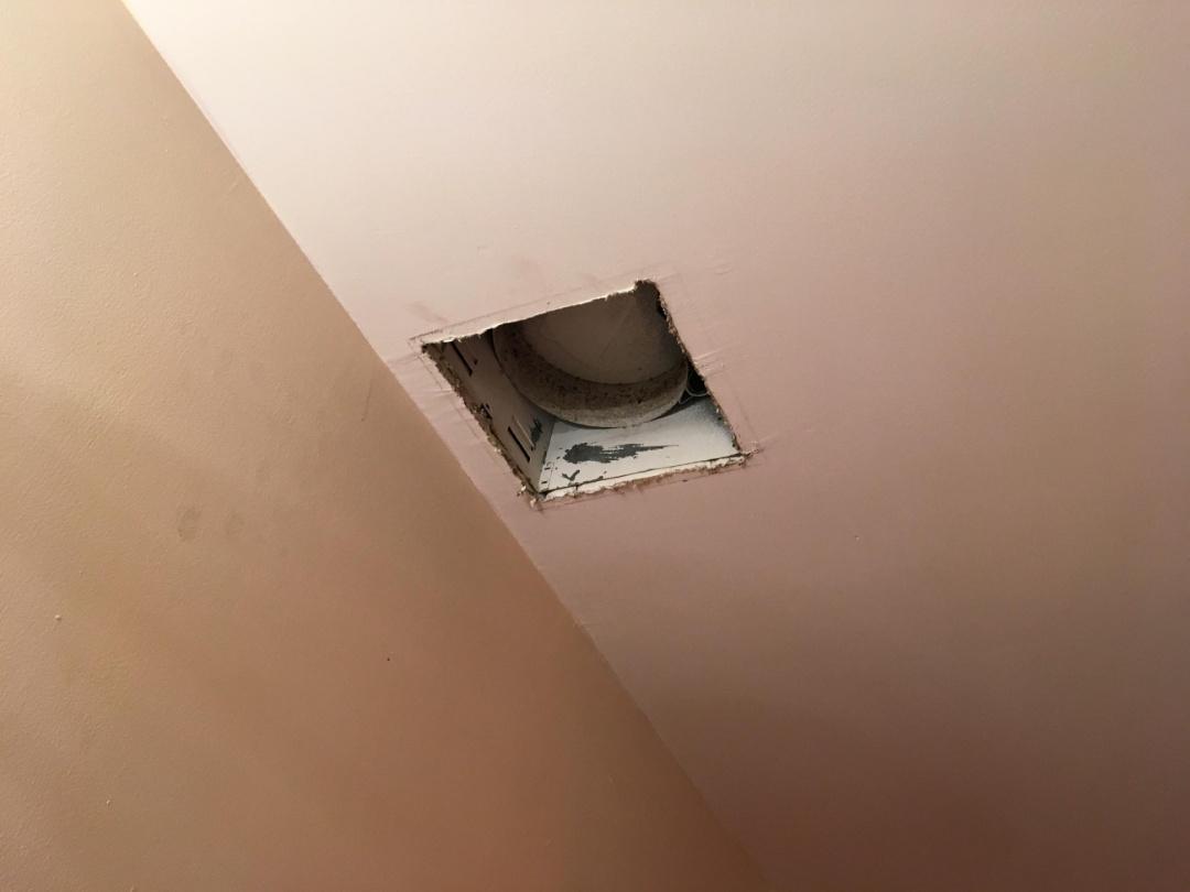 Replaced missing exhaust fan in master bathroom. Miramar Fl 33025