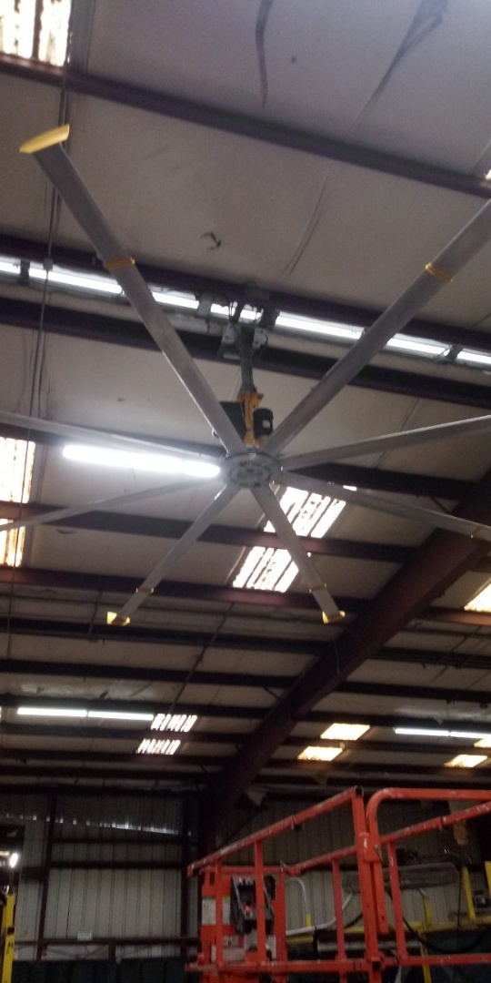 Reinstalled a new Big Ass Fan in court group in Perry Florida   Commercial Electrician Perry, FL