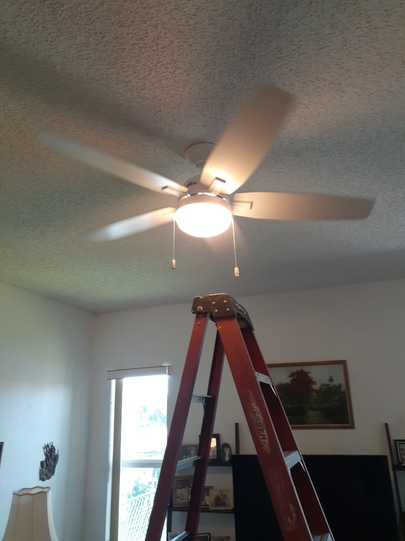 Florida City, FL - Trouble shoot and install ceiling fan in living room. Homestead,Fl 33035