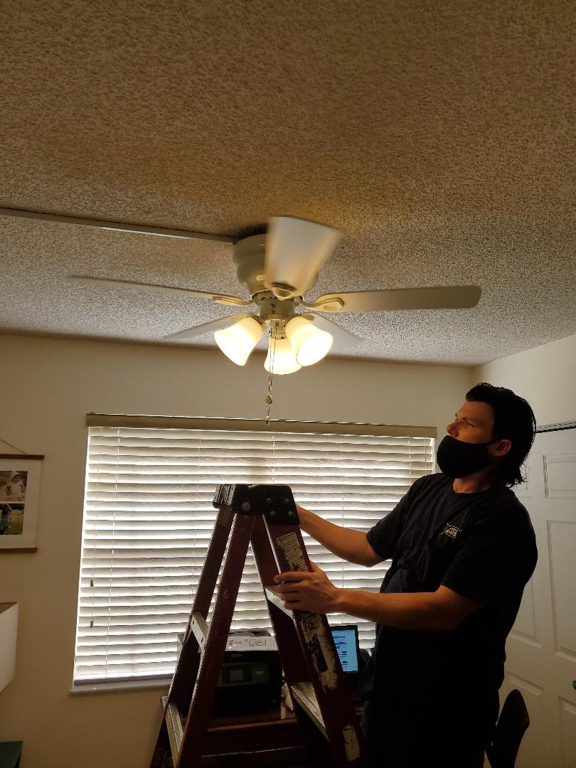 Homestead, FL - Replacing broken ceiling fan