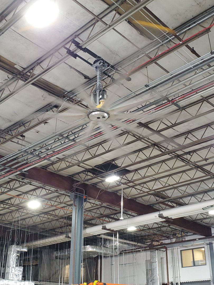 Miami, FL - Installed big ass fan in DHL cargo warehouse