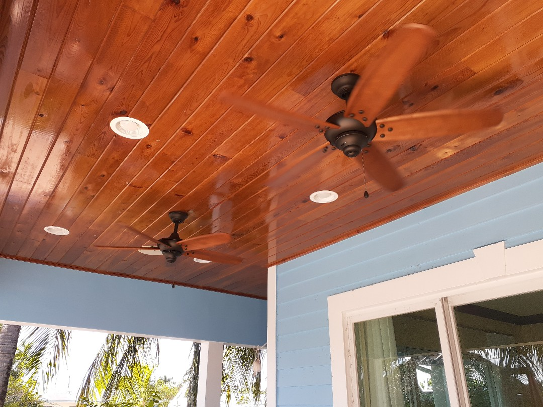 Installed patio ceiling fans. Dania Beach Fl 33004