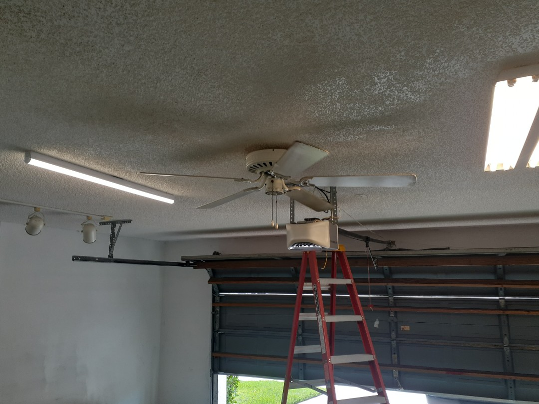 Pembroke Pines, FL - Removed none working florescent light fixture in garage with LED fixture. Pembroke Pines Fl