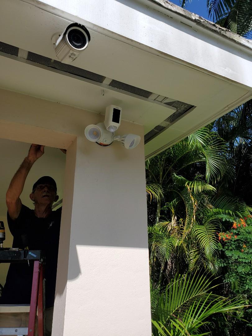 Miami Springs, FL - Installed ring camera flood light