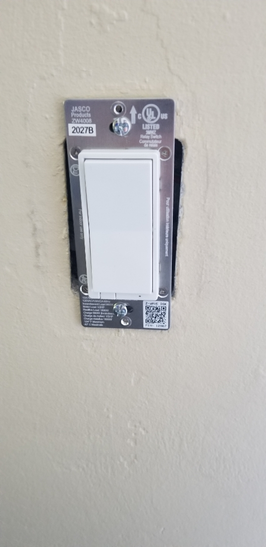 Palmetto Bay, FL - Installed new switch for patio light. In Palmetto bay Florida