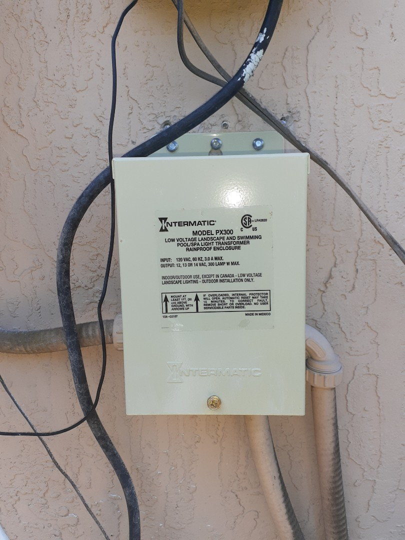Install pool light transformer. Weston Fl 33327