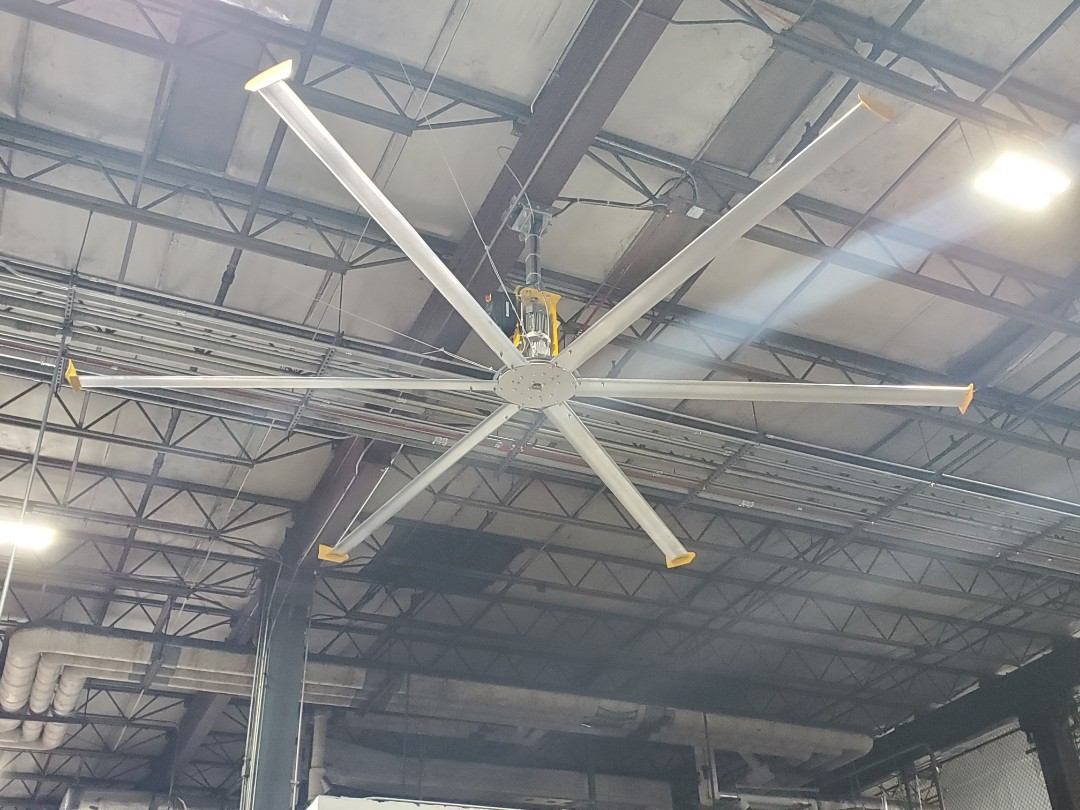 Miami, FL - Finished installing big ass fan for DHL at Miami international Airport