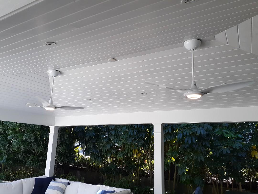 Miami, FL - Install 2 BAF haiku on outdoor patio. Miami FL 33143