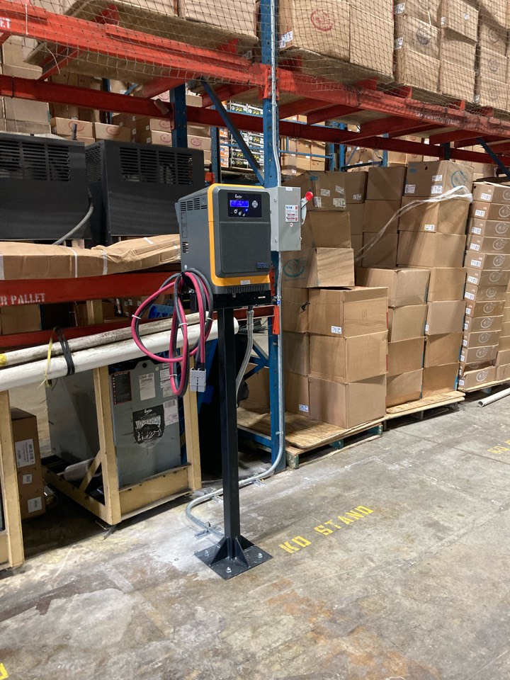 Pompano Beach, FL - Installing new fork lift charger power