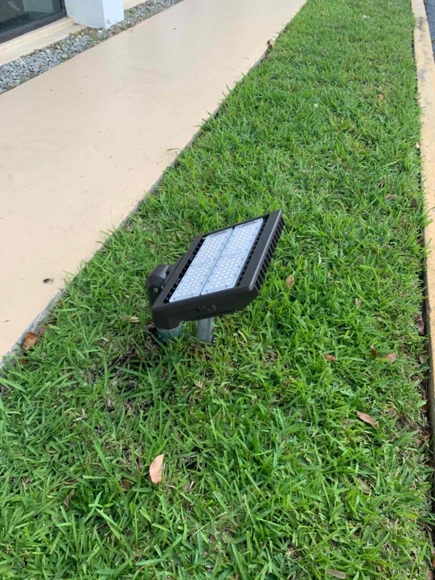 Fort Lauderdale, FL - Installing new floodlight.