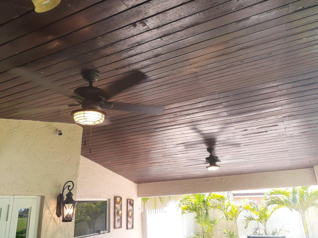 Hialeah, FL - Install patio ceiling fans. Country Club Fl 33015
