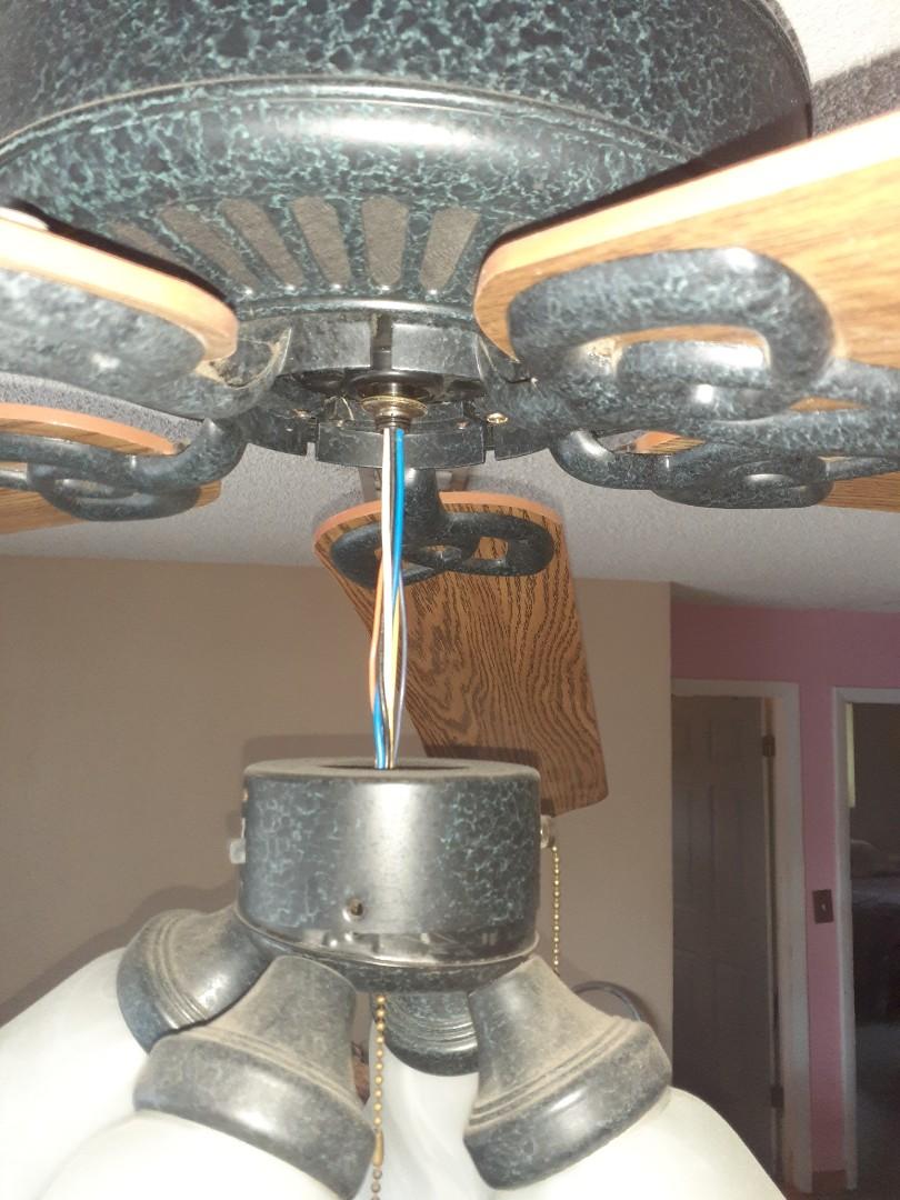 Fort Lauderdale, FL - Diagnosed 3 ceiling fans. Fan #1 Fan motor will not shut off. Fan #2 Loud squeaking noise from fan motor. Fan #3 lights fix broken from fan.  Ft Lauderdale  Fl 33309