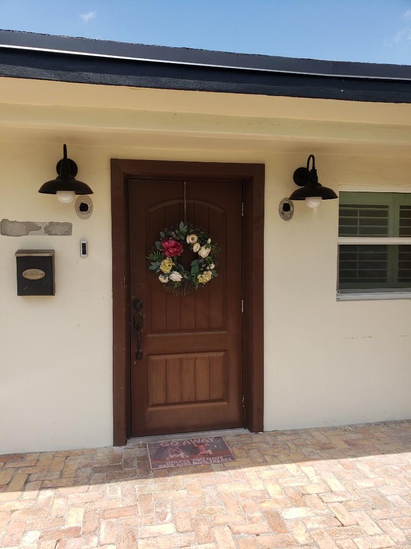 Miami, FL - Relocate wall lights