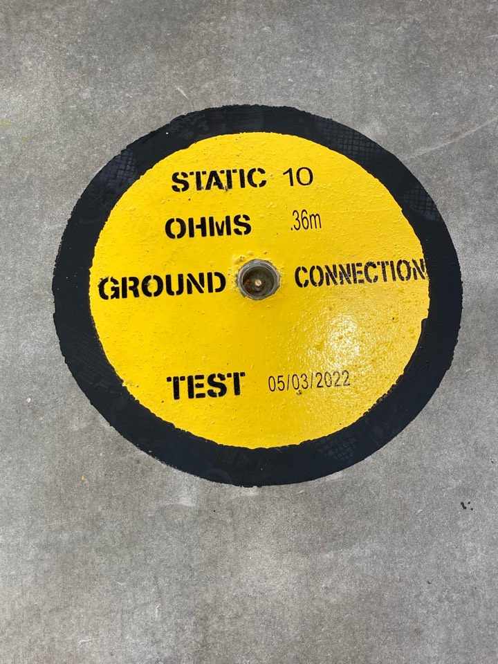 Tested air plane ground termination points