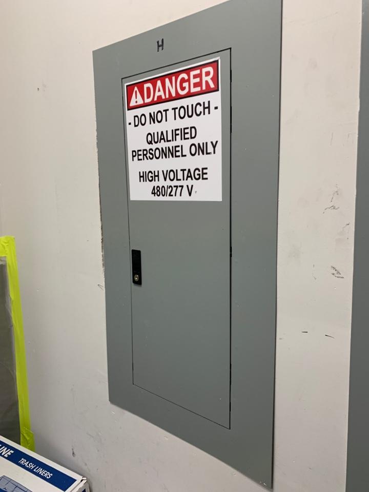 Restored power to main store panel