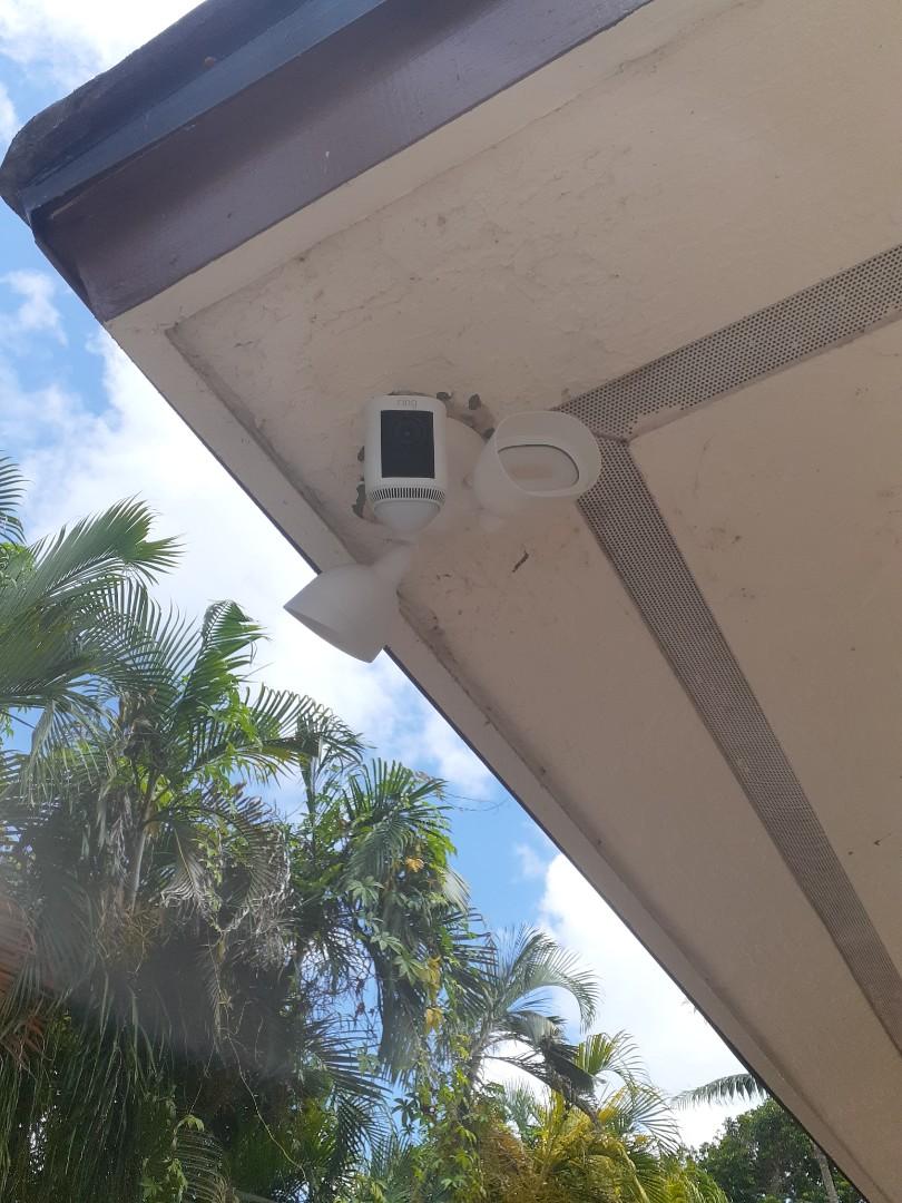 Miami, FL - Installed 5 Ring camera floodlights. Miami FL 33176