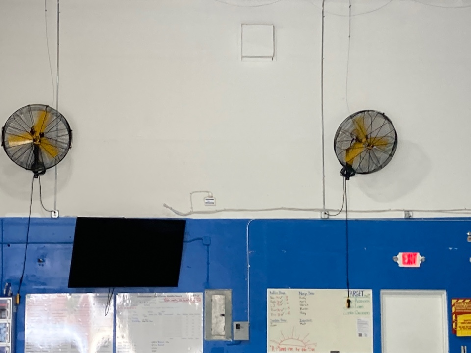 Fort Lauderdale, FL - Installing new  big ass fans and rec outlets