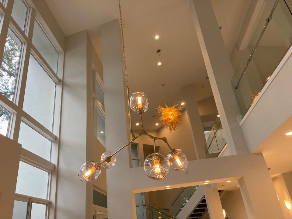 Miami, FL - Installed new chandeliers
