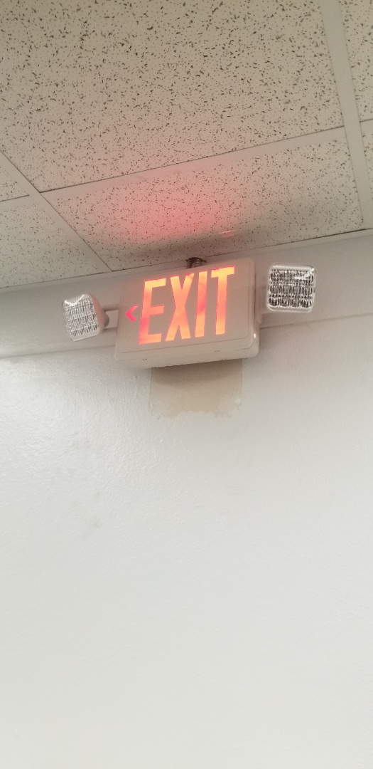 Installed 1 exit light and 3 exit light combo in Amtrak in Miami Fl.