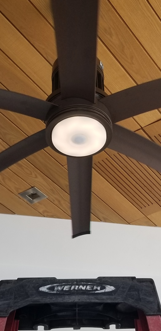 Installed light kit for a Big Ass Fan in Coral gables , Fl