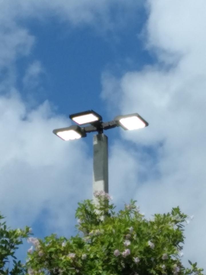 Florida City, FL - Installing new LED parking lot lighting