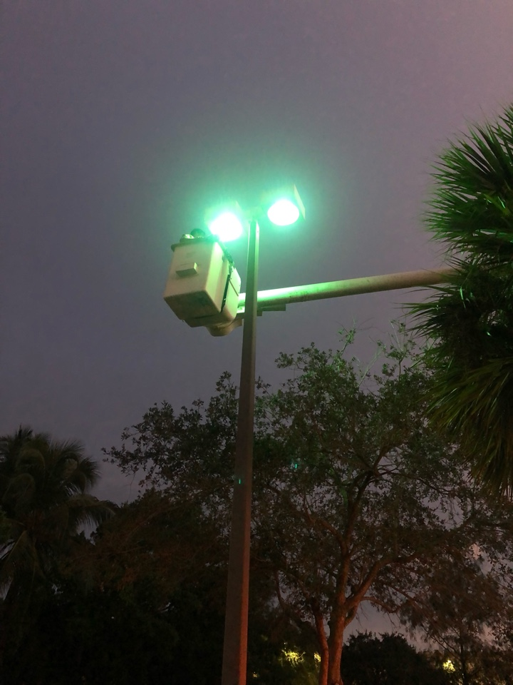 Pembroke Pines, FL - Changed 5 light posts including ballast, lamps and fuses