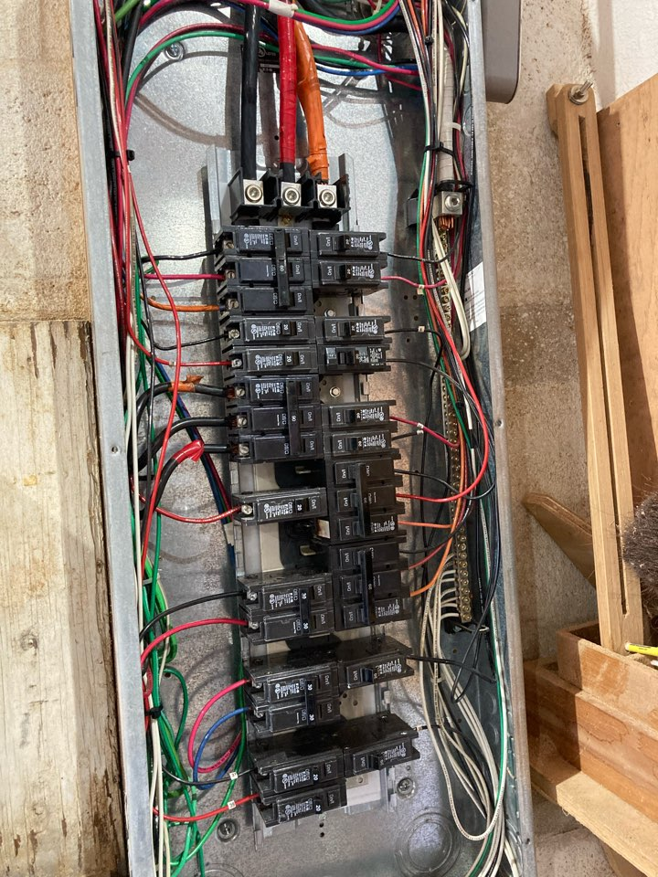 Installing new electrical panel