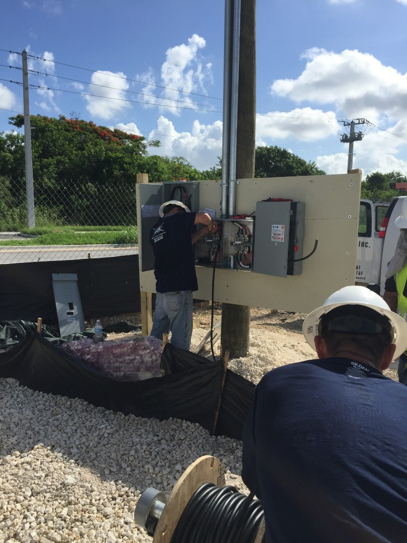 New electrical service for Coral Town Plaza in Naranja, FL.