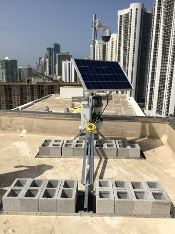 Completed solar powered OxBlue camera in Sunny Isles. #reusable #solarpower