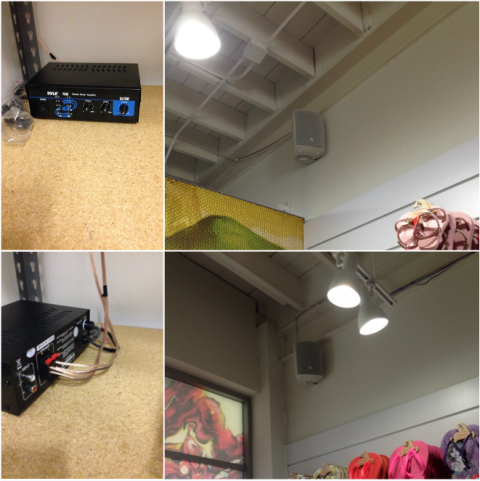Licensed Electrician Miami | Installing audio visual for a commercial customer in the Wynwood district.