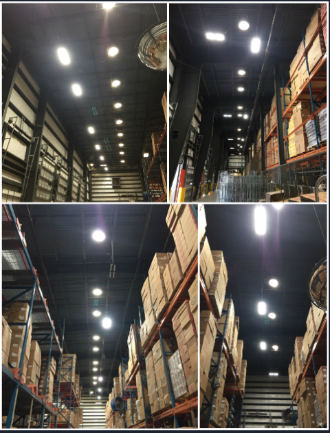Commercial & Industrial Electrical Contractor Pompano Beach, FL | Installing and updating warehouse lighting, to a more efficient LED lighting.