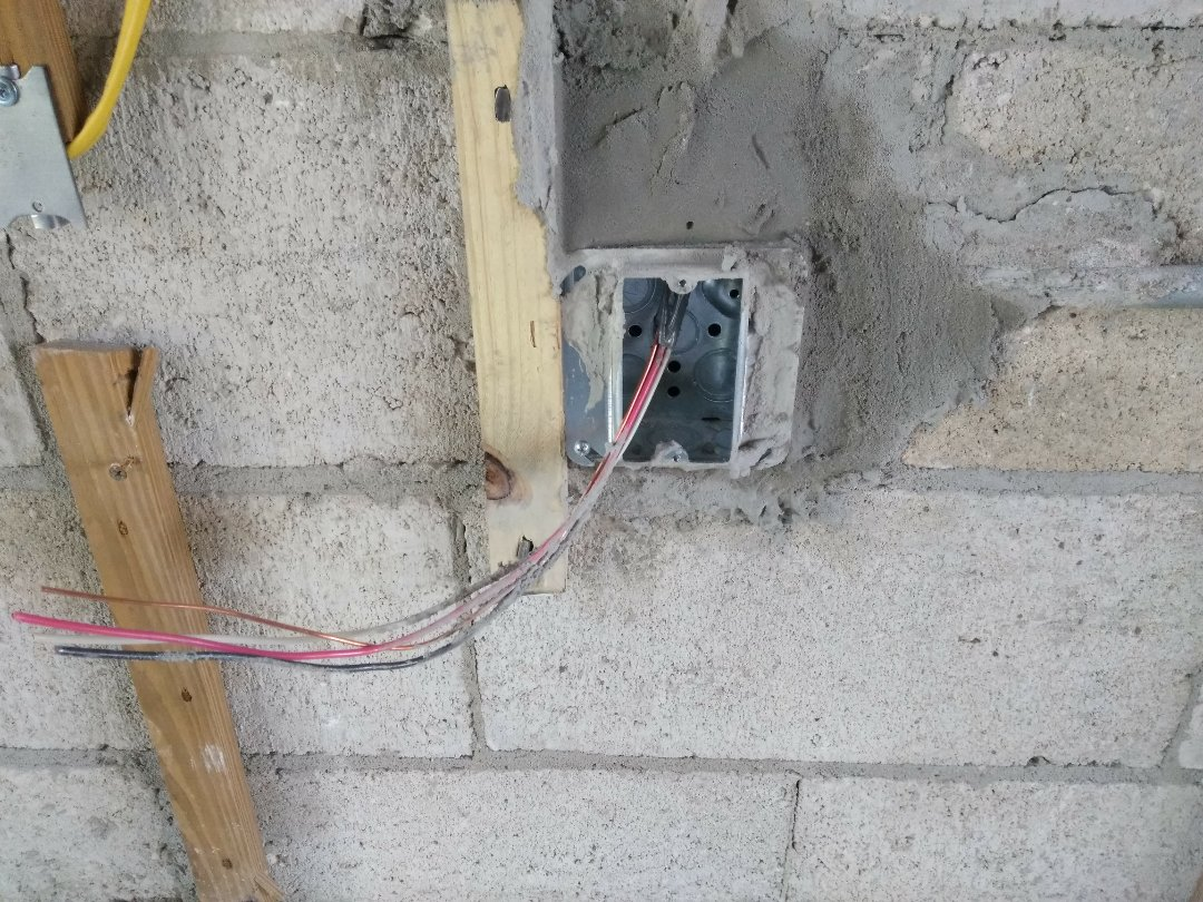 Florida City, FL - Installing receptacle boxes of electrical outlets. Florida City,Fl 33034