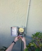 Cutler Bay, FL - Circuit breaker trips when sprinkler system is turned on. Cutler Bay,Fl 33157