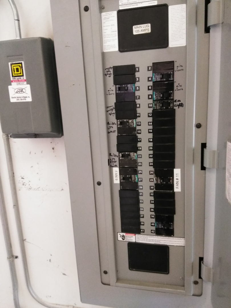 Miami, FL - Installed three new 30amp circuit breakers and lighting contactor in electrical panel. Hyundai Mobis Miami,Fl
