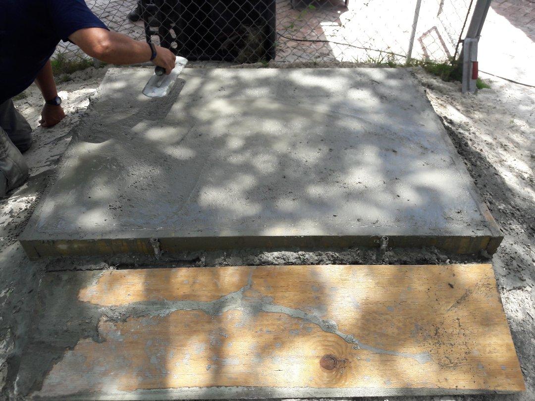 Preparing foundation for back up generator installation. Pinecrest,Fl