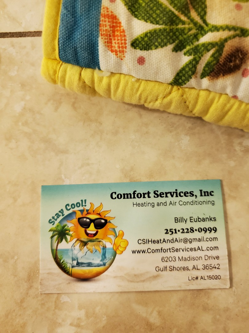 Orange Beach, AL - Provided a maintenance service on AC system