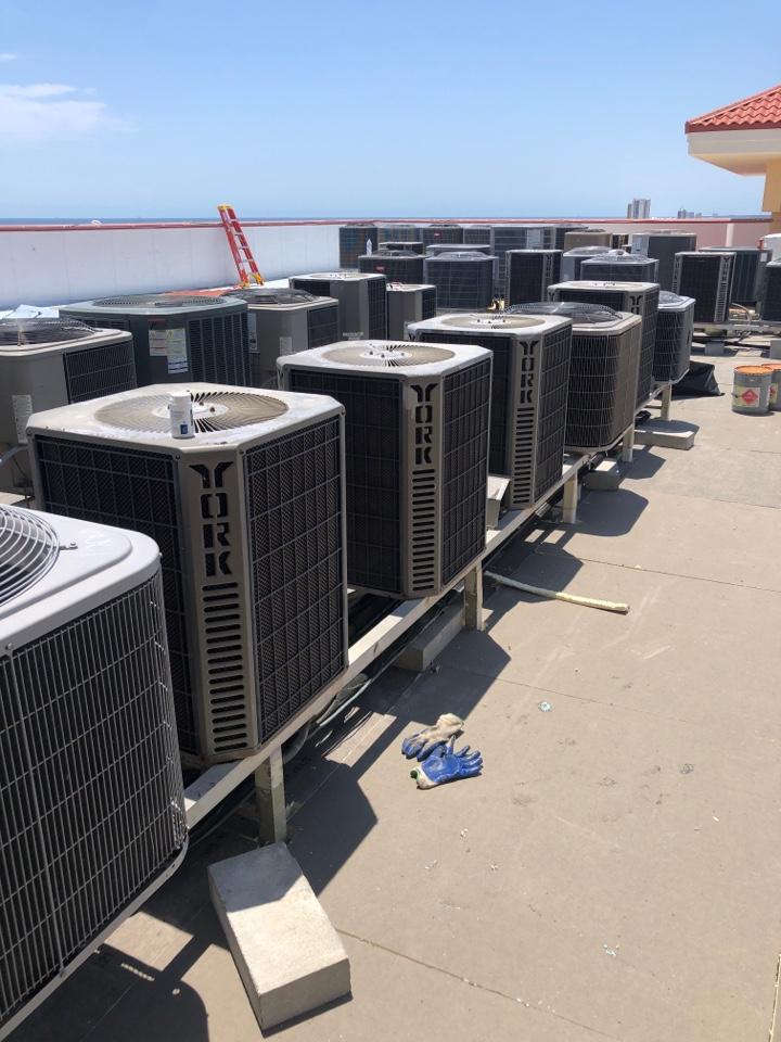 Gulf Shores, AL - Maintenance on a York Air Conditioner for San Carlos Condominium.