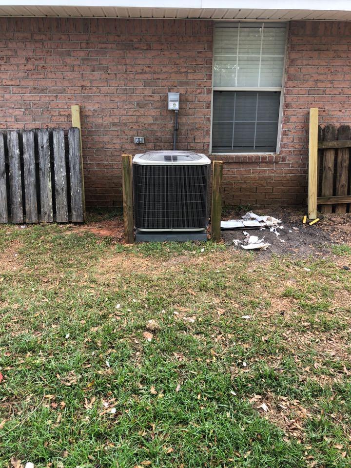 Foley, AL - Installed a new Heat Pump in FoleAL