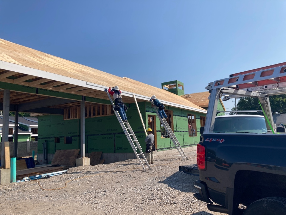 Bedford, NH - Another project kicking off. Roofing, trim and siding for a new construction bank. Call us if you are looking for a roofing contractor in Manchester or Bedford!