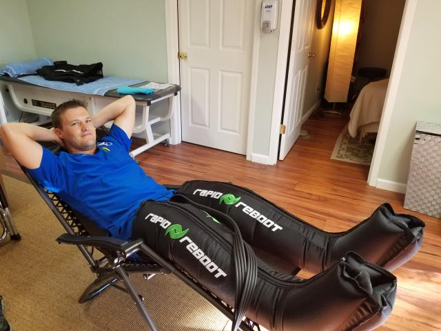 Here's Dr. Henry enjoying our latest addition to the clinic! Compression therapy is great for a multitude of reasons. Come by and check it out!
