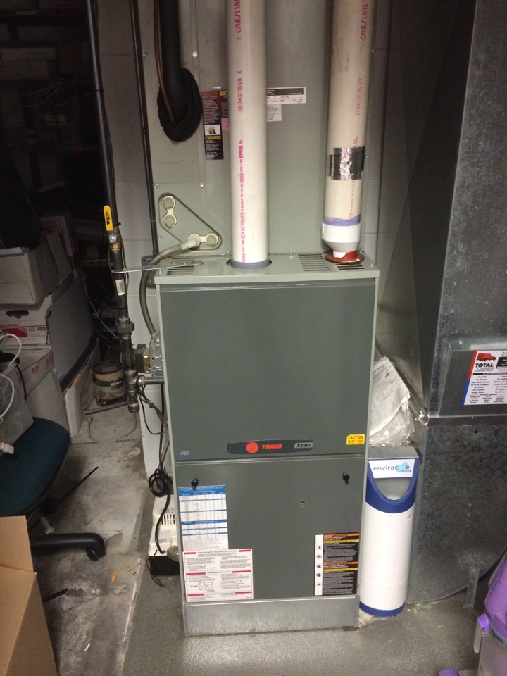 New Hope, MN - Annual maintenance on Trane furnace