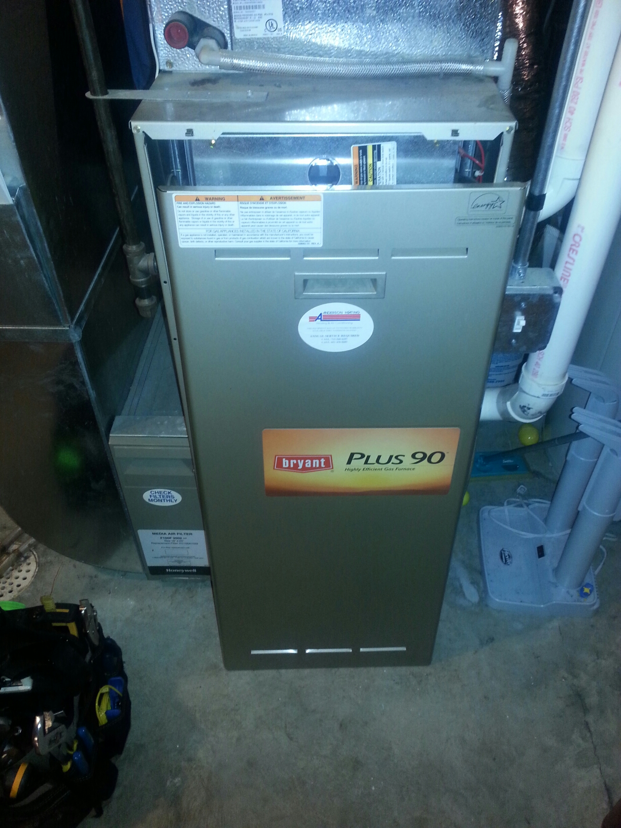 Lakeland, MN - Bryant furnace tune up/maintenance