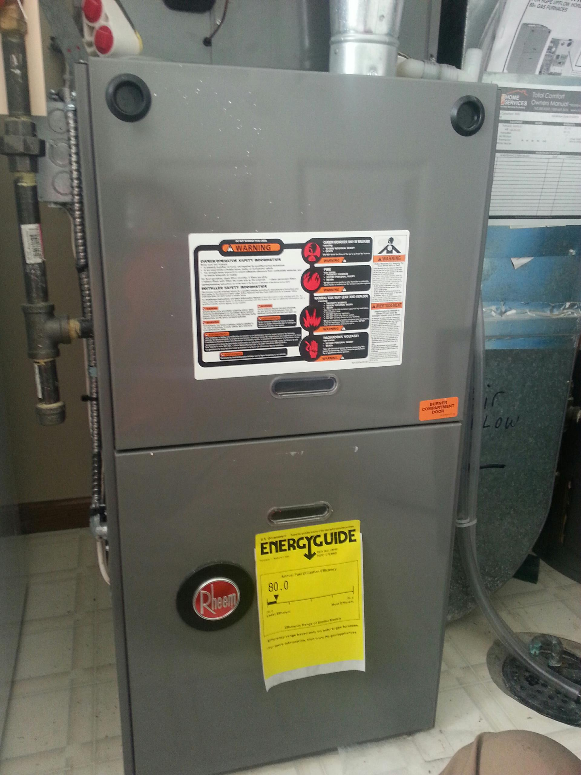 Lakeland, MN - Service repair on rheem furnace.