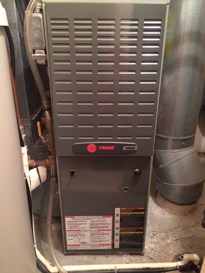 Cottage Grove, MN - Furnace maintenance and tune up on a trane xr80