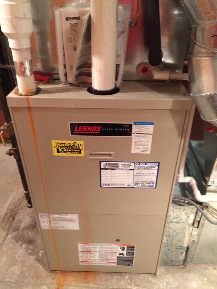 Hopkins, MN - Annual maintenance on Lennox furnace
