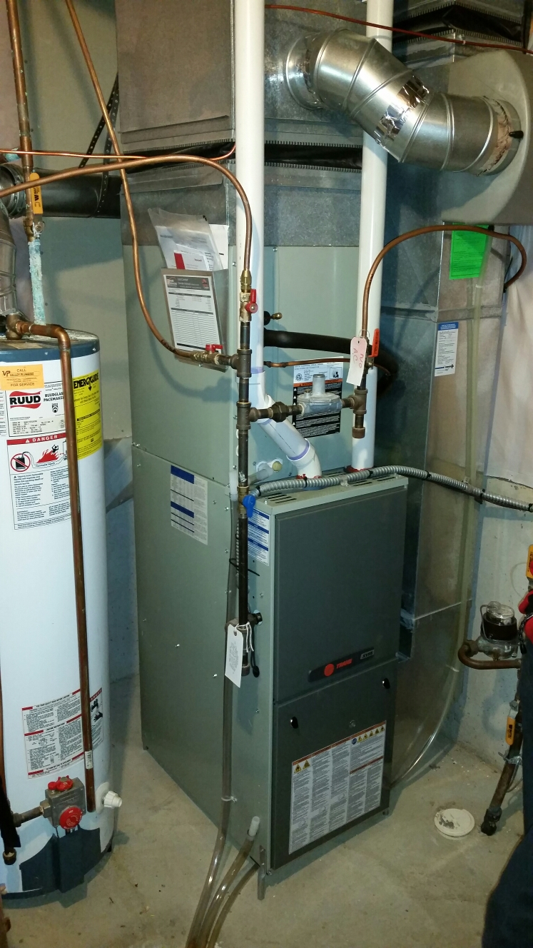 Chanhassen, MN - Install Trane furnace, heat pump and humidifier