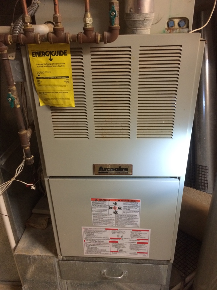 Excelsior, MN - Service on Arcoaire furnace