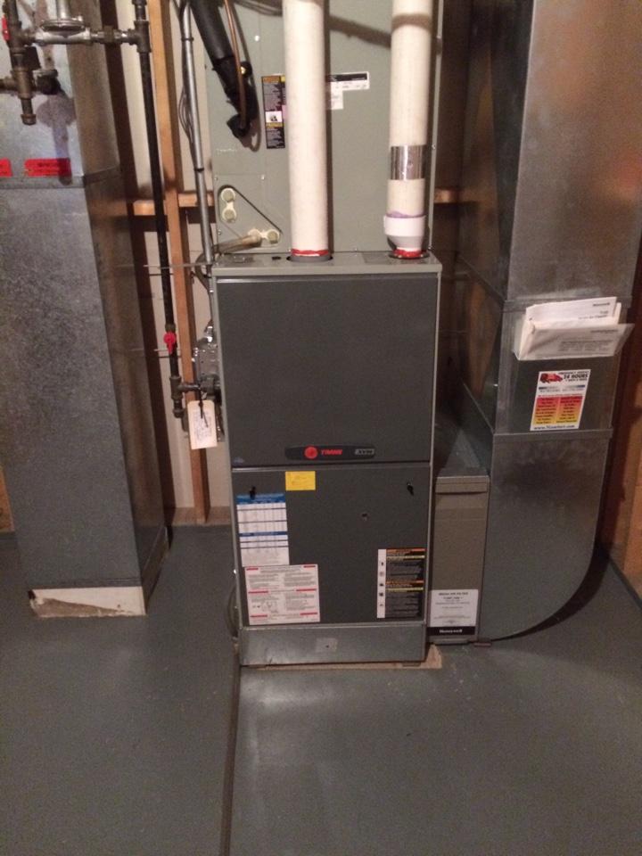 Chanhassen, MN - Annual maintenance on trane furnace